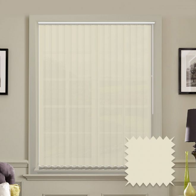 Cream Vertical Blinds | Bermuda Plain Cream Vertical Blinds - Just Blinds